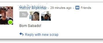 Orkut Virus Bom Sabado Hacked Scrapbook