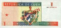 Cuban Convertible Pesos (CUC) back
