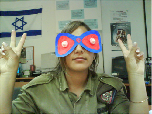 Israeli Soldier Eden Abergil Facebook photo - funny