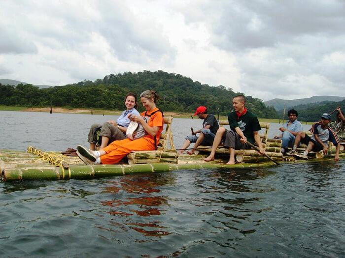 Bamboo Rafting in Thekkady - Periyar National Park Tourist Place in Kerala