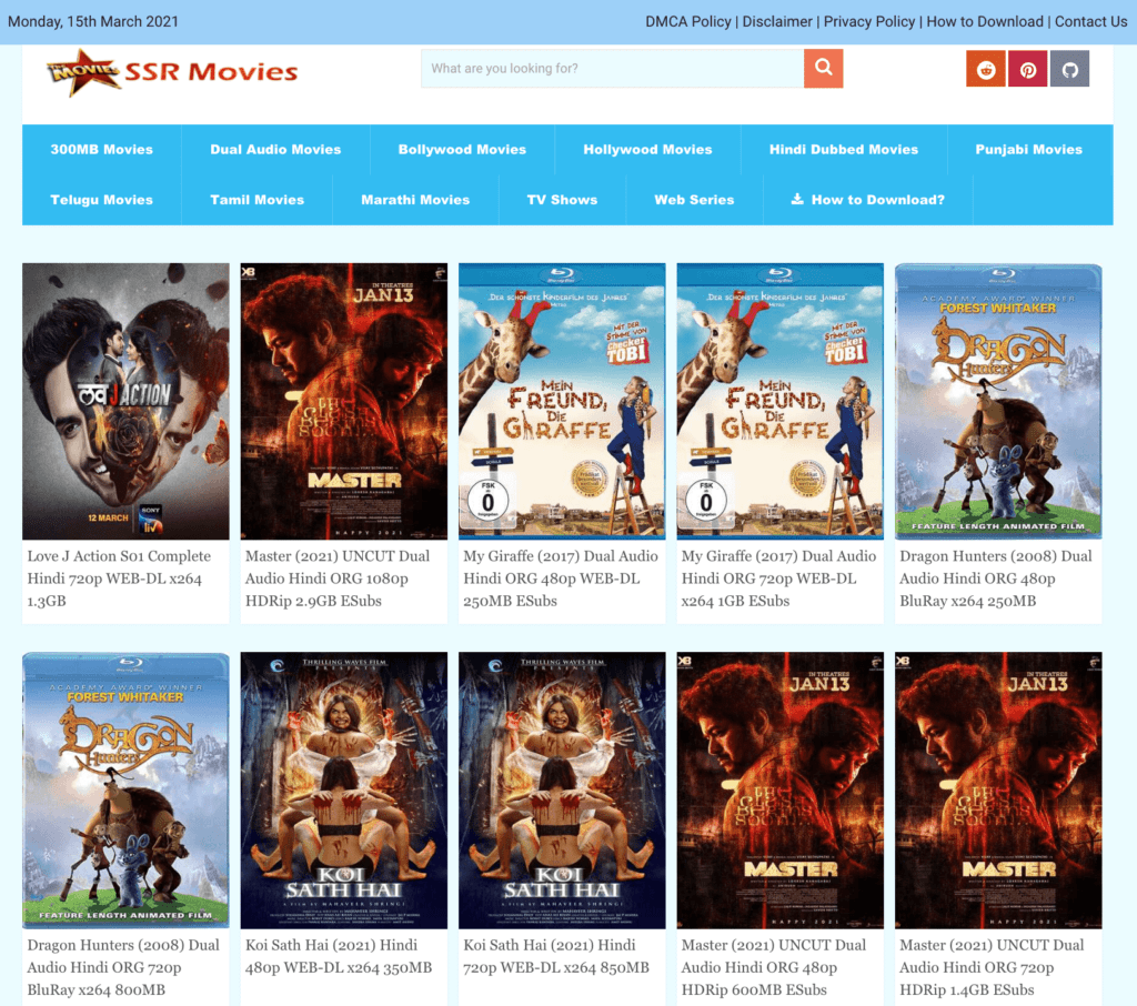 SSR Movies Website - SSRMovies List Download