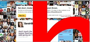 onmouseover attacked twiter page of sarah brown